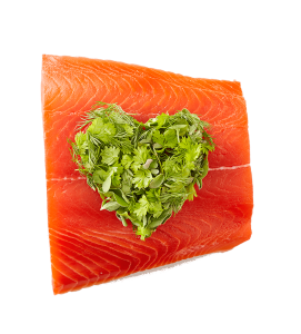 salmon fillets herb heart-min