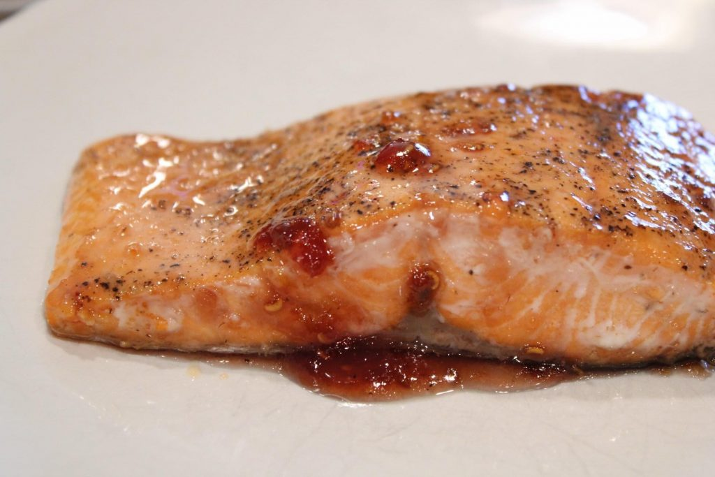Jalapeno Jelly Glazed Salmon recipe