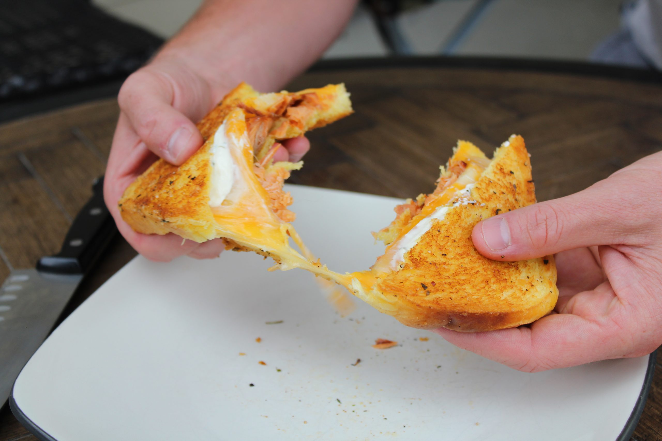 smoked salmon grilled cheese